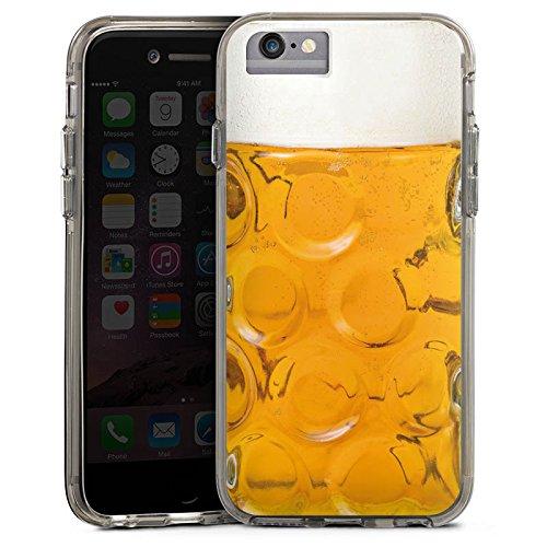 Apple iPhone 6 Plus Bumper Hülle Bumper Case Glitzer Hülle Bier Glas Stein Masskrug Bumper Case transparent grau
