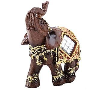 1pc Glück Reichtum Elefant Statue Skulptur Feng Shui Holzmaserung Home Desktop Dekoration Geschenk