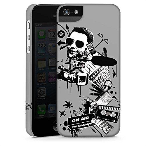 Apple iPhone X Silikon Hülle Case Schutzhülle Kamera Musik Kassette Premium Case StandUp