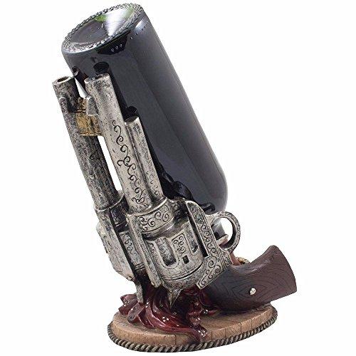 GQFGYYL klassischer Shooter Waffe Flasche Rack Statue Carved in Sachen innendekoration als Dekoration Wein - Rack.