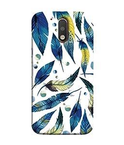 99Sublimation Designer Back Case Cover For Motorola Moto G4 :: Moto G (4th Gen) Blue Oil Leaf Design