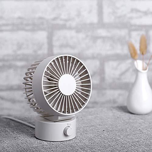 HDC SHOP USB Poratable Fan, Silent Desk Fan, mit wiederaufladbarem USB-Lüfter, für Schreibtisch, Haushalt, Büro und Zimmer oder Kinderzimmer,White -