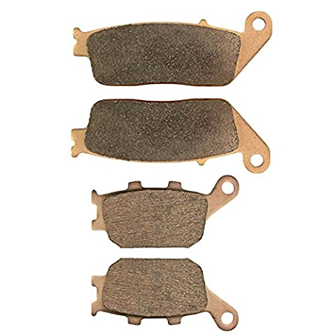 AHL Motorcycle Front & Rear Brake Pads Disc for Honda VT1100 T Shadow American Classic Ed Tourer 1998-2001 ( Copper base