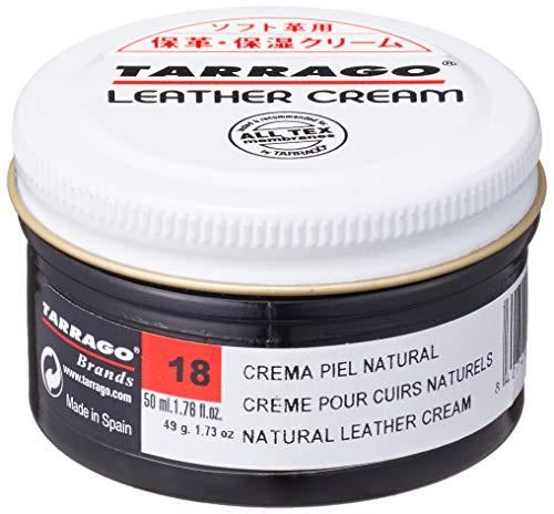 Tarrago Natural Leather Cream 50ml, Crema de limpieza y nutriente para cuero liso y engrasado - Apto para cueros con Goretex