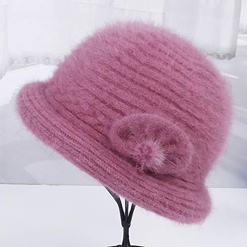 Oma Damen Mütze (Rcnry Mittelalter und Alte Mütze Damen Winter Strickmütze Wollmütze Oma Mütze, Damen, C, C)