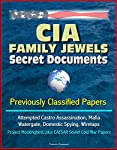 "This is a print replica reproduction of the Central Intelligence Agency (CIA) ""family jewels"" papers featuring previously classified documents about questionable actions by the agency over the years: attempted assassination of Cuban dictator Fidel Ca..."