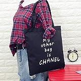 New Arrivals femelle Mes autres Sac est Chanel sur toile Sac à bandoulière simple lumière File Shopping Voyage Sac à main (Noir) rigide en forme d'os