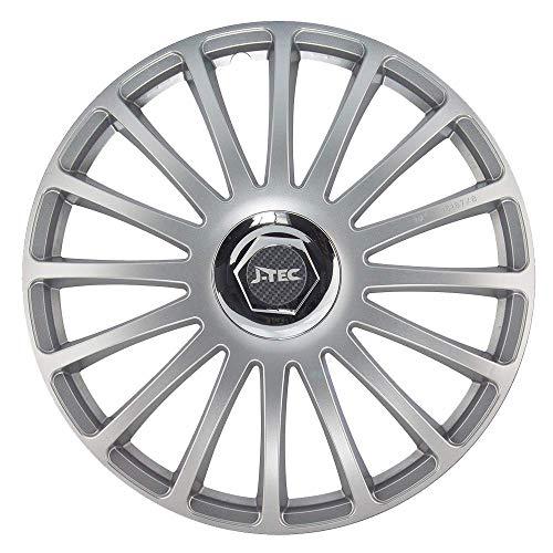 CM DESIGN Radkappen 15 Zoll Grand Prix SR (Silber) passend für z.B. Ford für Fiesta MK5 JAS JBS
