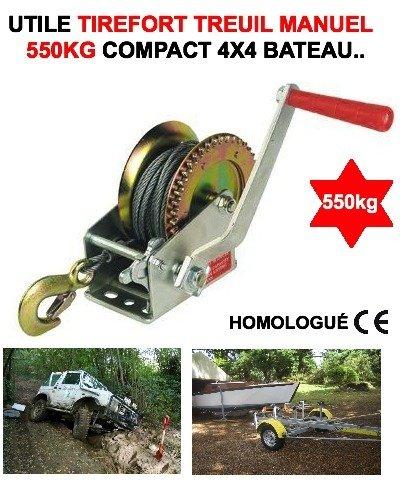 LCM2014 Trefort TREUIL Manual Portátil Homologación CE 550 kg ¡No salgas sin Este Trigo a Mano! Raid Preparation - Donaldson Topspin para Snorkel (4 x 4)