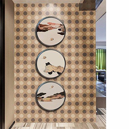 QHJ Aufkleber,3D Wall Paper Brick Stone Rustikale Wirkung Selbstklebende Wandaufkleber Home Decor (B) -