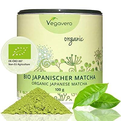 BIO : Thé Matcha japonais | Détox - Energisant - Bien-être | Haute qualité | Boîte spéciale conservation des arômes | Qualité Vegavero- 100% naturel | Végan | Made in Germany