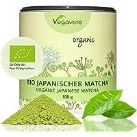 Té Matcha Orgánico Japonés | Rico en L Teanina, Cafeína y Antioxidantes | Energía + Bienestar + Concentración + Detox | 100g | Sin Aditivos | Calidad Premium | Producto BIO | Instrucciones en Español | Vegano, Sin Gluten | Vegavero