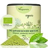 Té Matcha Orgánico Japonés | Rico en L Teanina, Cafeína y Antioxidantes | Energía + Bienestar + Concentración + Detox | 100g | Sin Aditivos | Calidad Premium | Producto BIO | Vegano | Vegavero