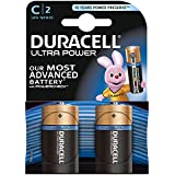 Duracell Ultra Power Typ C Alkaline Batterien, 2er Pack