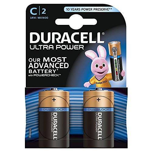Duracell Ultra Power Batteria Alcalina C 2 pezzi
