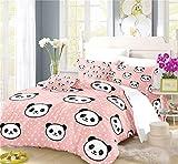 NYLIN Fundas Nórdicas Panda Juego De Ropa De Cama Rosa Colorido Claro Niño Chica Colcha 2/3/4PCS Fundas De Edredón Nórdico/Almohada/Sábanas,para Cama 90/135/150/180 (Fundas de Almohada×2,01)