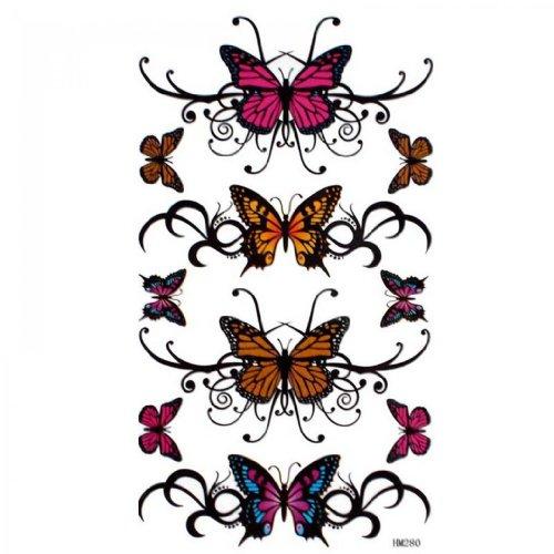 Papillon SPESTYLE imperméable non toxique stickerstemporary de tatouage temporaire tatouages sexy imperméable peint