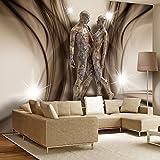 murando - Fototapete 400x280 cm - Vlies Tapete - Moderne Wanddeko - Design Tapete - Wandtapete - Wand Dekoration - Steinfiguren Steine Abstrakt h-A-0014-a-c
