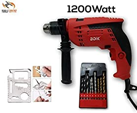 ToolsCentre Ultra Powerful 1200W 13mm Hammer Drill Machine with Multi Tool Kit and Drill Bit Set