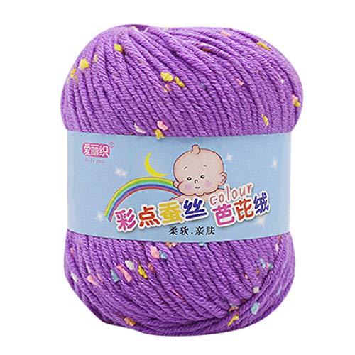 LCLrute 50g Baby Wolle Babywolle zum Stricken Hand Stricken Knicker Garn häkeln weiche Schal Pullover Hut Garn Strickwolle (G) -