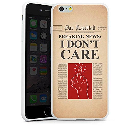 Apple iPhone X Silikon Hülle Case Schutzhülle News Spruch Egal Silikon Case weiß