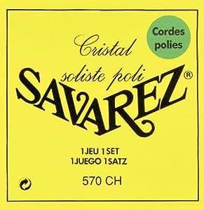 Savarez Saite für Klassik-Gitarre Alliance Cristal 570 CH. High tension. Gelb<p><br>- Cristal Nylon. Versilbert. Poliert<p><br>-