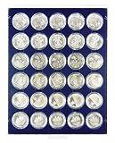 LINDNER Original Münzbox 2537 M passend für 30 verkapselte Münzen mit einem Durchmesser von 37 mm / z.B. 200 Euro Gold (2002), 10 Euro, 10 DM, 1 Unze Nugget/Känguruh (Gold) - Standard