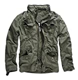 Herren Übergangsjacke Vintage Outdoor Sommer Jacke Army B32 [B32 - Grün - Gr.4XL]