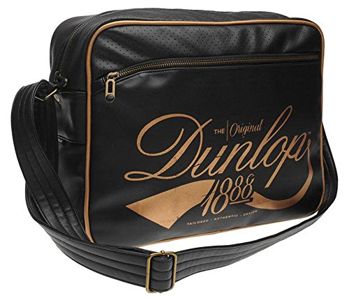 Unisex Stylish Messenger Bags Flash Flight Bag H29xW38xD12.5 cm (N, Black/Gold)