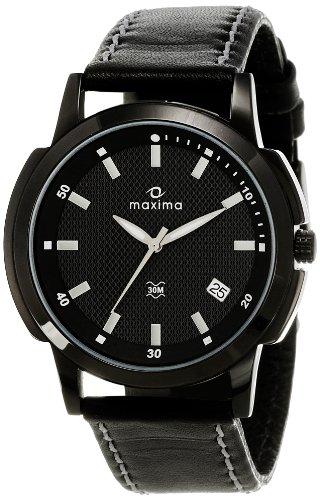 Maxima Attivo Analog Black Dial Men's Watch - 22570LMGB image