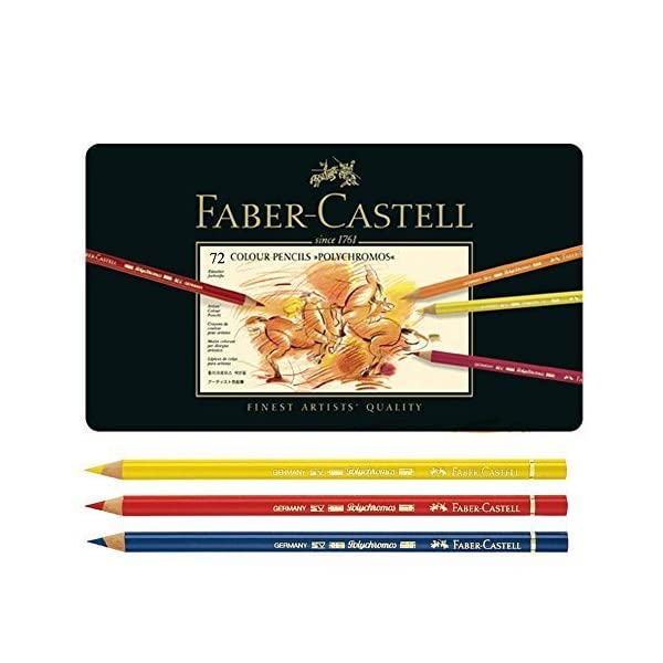 Faber Castell Polychromos Color Pencils Finest Artists Quality,Metal tin Set of 72 by Faber Castell Polychromos Color…