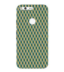 HiFi Designer Phone Back Case Cover Google Pixel :: Pixel ( Blue Yellow Colorful Pattern Design )