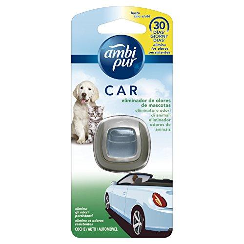 Ambipur Deodorante Fresco per Auto con Clip - 3 pezzi da 2 ml [6 ml]