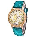 IG Invictus Damen Mode Casual Lederstrap Analog Quarz Runde Uhr T337 N Quarzuhr Grüne Quarz Uhr
