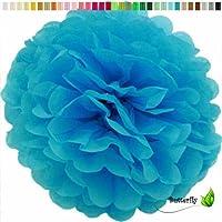 10 Seidenpapier PomPoms türkis Honey Comb Papier Ball Deko Hochzeit Ø20-40cm