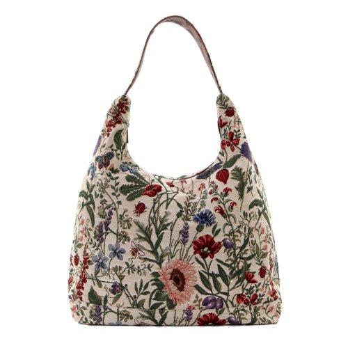 Signare besace sac d'épaule tapisserie mode femme Jardin de matin