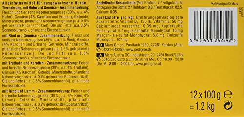 Pedigree Hundefutter in Sauce, 48 Beutel (4 x 12 x 100 g) - 5