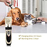 Sminiker Pet Grooming Clippers Low Noise Dog Clippers Cordless Pet Clippers Rechargeable Pet Hair Shaver Professional… 15