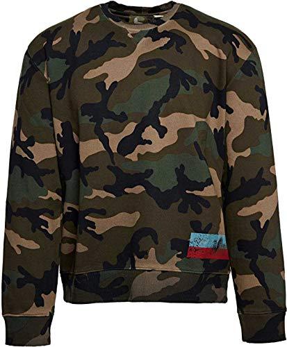 Valentino Herren Pullover Sweatshirt Camouflage Sweatshirt, Farbe: Gruen, Größe: S