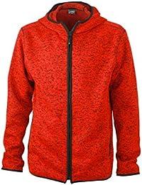 JAMES & NICHOLSON Fleece Men's Knitted Hoody - Sweat-shirt - Homme