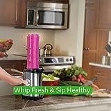 Whipsip Smoothie Blender Protein Milk Shake Maker with Mini Grinder Attachment (Metallic)