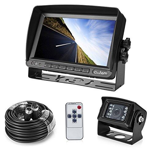 "7"" TFT LCD KFZ Monitor+18 IR LED Rückfahrkamera mit IP67 & Nachtsicht, inkl. 20 Meter Anschlusskabel (12-24 Volt)"