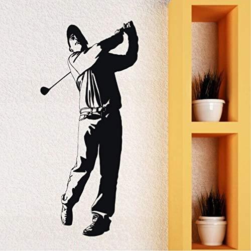 Lvabc Vinyl Aufkleber Golf Club Player Wandtattoo Tapete Abnehmbare Vinyl Englisch Sport Mann Fan Wandaufkleber Golf Sport Decor 26X57Cm Mariposa Golf