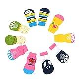 Omkuwl 4 unids mascotas calcetines perrito perro gato cachorro colorido antideslizante producto de origen de mascotas S
