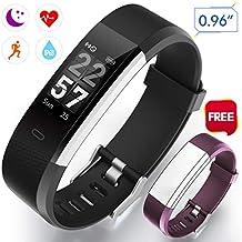 Winisok Fitness Armband Herzfrequenz Aktivität Armband IP67 Fitness Tracker Smart Armband Wasserdicht Herzfrequenzmesser mit Pulsmesser