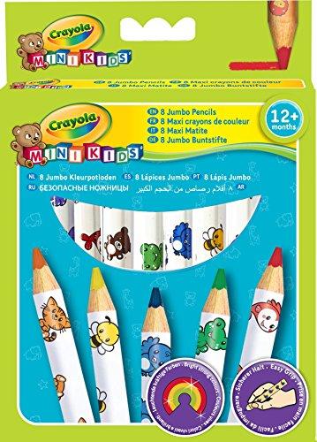 Crayola Mini Kids - Loisir Créatif - 8 Maxi Crayons De Couleur 0787551126273