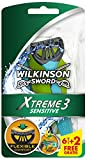Wilkinson Sword Xtreme 3 Sensitive rasoi usa e getta, 6 pezzi + 2 gratis