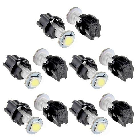 CARCHET® 10 T5 Ampoule Lampe LED SMD5050 Jauge Blanc pr Compteur Tableau De Bord Voiture