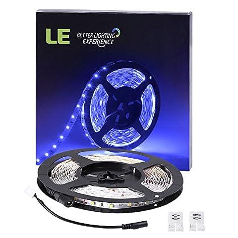 LE LED Flexible Strip Lights, 300 Units 3528 LEDs, 5m 12V DC Non-waterproof Light Strips,LED ribbon, For Garden/Home/Kitchen/Car/Bar, DIY Party Decoration Lighting,Blue