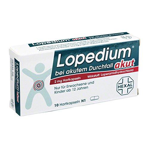 Lopedium akut bei akutem Durchfall, 10 St. Hartkapseln -